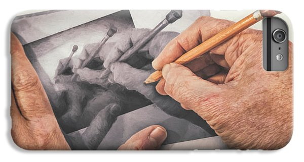 Repeat iPhone 6 Plus Case - Hands Drawing Hands by Scott Norris