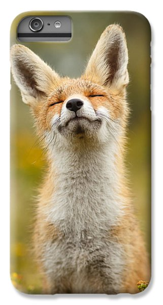 Happy Fox IPhone 6 Plus Case by Roeselien Raimond