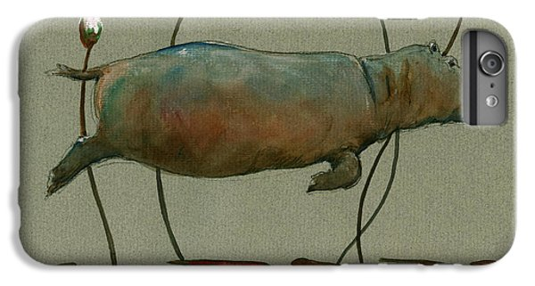 Happy Hippo Swimming IPhone 6 Plus Case