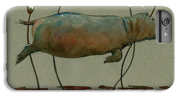Happy Hippo Swimming IPhone 6 Plus Case by Juan  Bosco