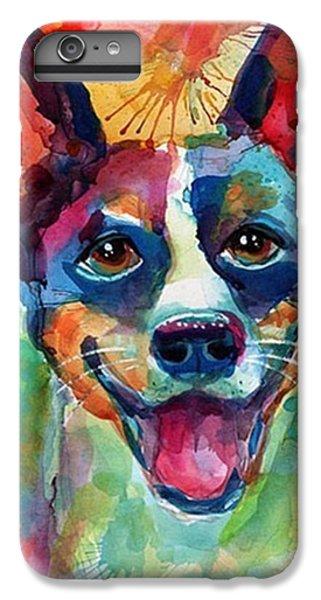 Happy Rat Terrier Watercolor Portrait IPhone 6 Plus Case