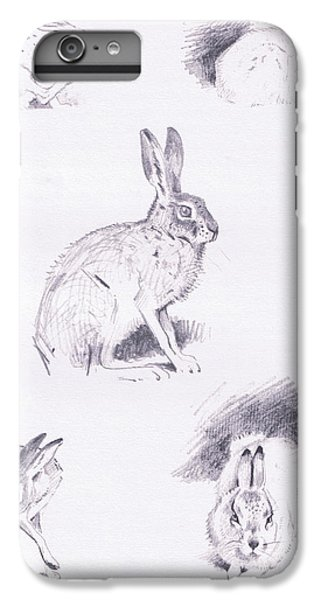 Hare Studies IPhone 6 Plus Case by Archibald Thorburn