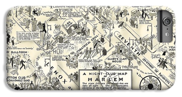 Harlem iPhone 6 Plus Case - Harlem Prohibition Nightclub Map 1926 by Daniel Hagerman