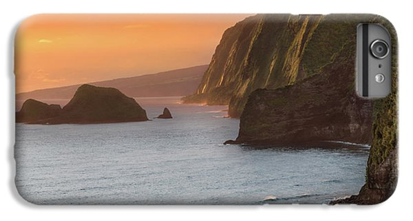 Pacific Ocean iPhone 6 Plus Case - Hawaii Sunrise At The Pololu Valley Lookout 2 by Larry Marshall