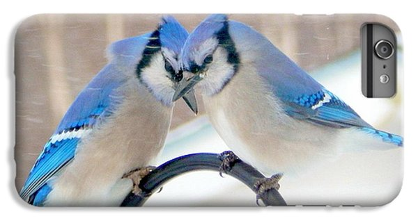 Bluejay iPhone 6 Plus Case - Heart To Heart by Karen Cook
