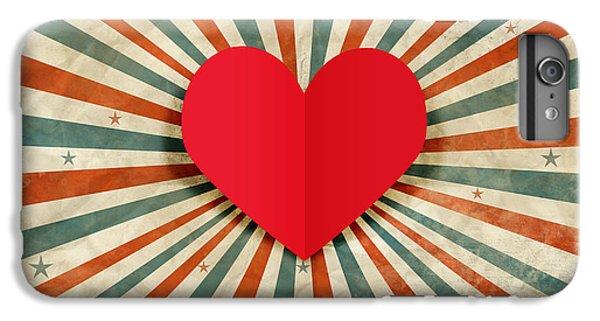 Beautiful iPhone 6 Plus Case - Heart With Ray Background by Setsiri Silapasuwanchai