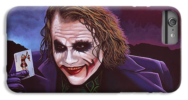 Heath Ledger As The Joker Painting IPhone 6 Plus Case by Paul Meijering