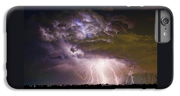 Highway 52 Storm Cell - Two And Half Minutes Lightning Strikes IPhone 6 Plus Case