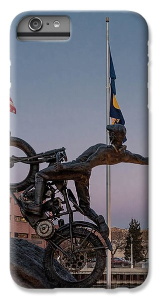 IPhone 6 Plus Case featuring the photograph Hill Climber Catches The Moon by Randy Scherkenbach