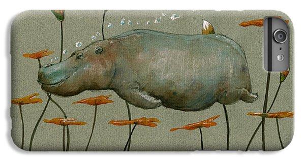 Hippo Underwater IPhone 6 Plus Case by Juan  Bosco
