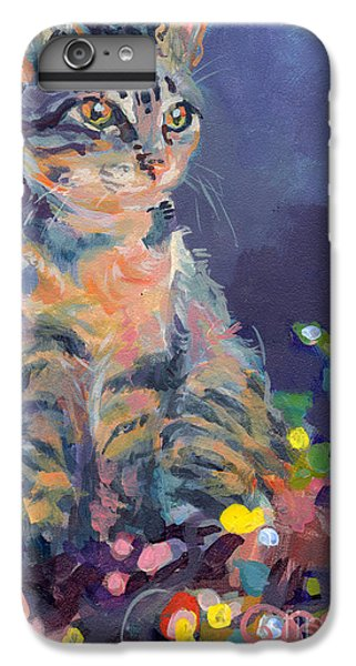 Cats iPhone 6 Plus Case - Holiday Lights by Kimberly Santini