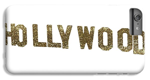 Beverly Hills iPhone 6 Plus Case - Hollywood Gold Glitter Sign by Mindy Sommers