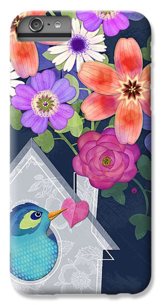 Folk Art iPhone 6 Plus Case - Home Is Where You Bloom by Valerie Drake Lesiak