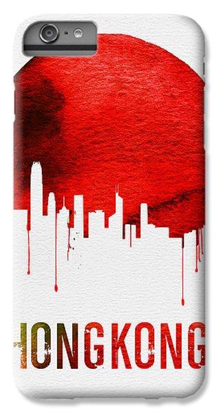 Hong Kong Skyline Red IPhone 6 Plus Case by Naxart Studio