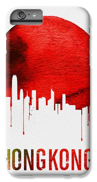 Hong Kong Skyline Red IPhone 6 Plus Case by Naxart Studio