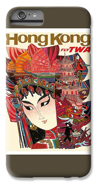 Hong Kong Vintage Airline Travel Poster By David Klein IPhone 6 Plus Case