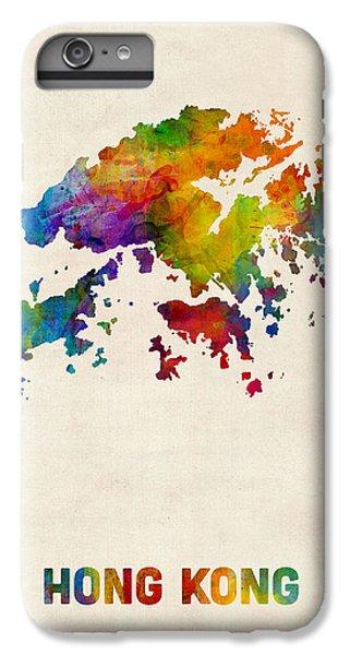 Hong Kong Watercolor Map IPhone 6 Plus Case by Michael Tompsett