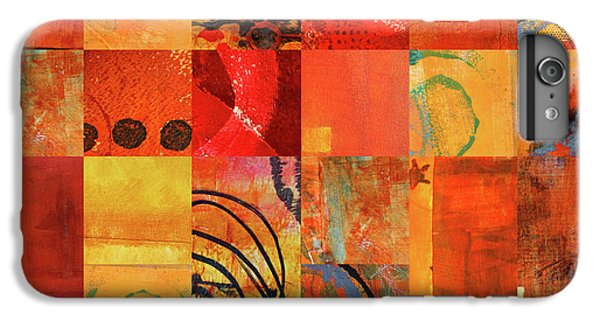 IPhone 6 Plus Case featuring the painting Hot Color Play by Nancy Merkle