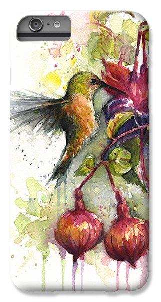 Hummingbird And Fuchsia IPhone 6 Plus Case
