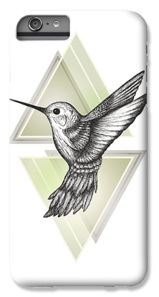 Hummingbird IPhone 6 Plus Case by Barlena
