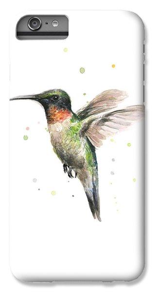 Hummingbird IPhone 6 Plus Case by Olga Shvartsur
