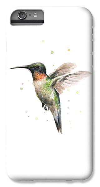 Animal iPhone 6 Plus Case - Hummingbird by Olga Shvartsur