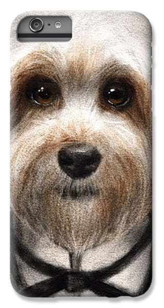 Humorous Dressed Dog Painting By IPhone 6 Plus Case