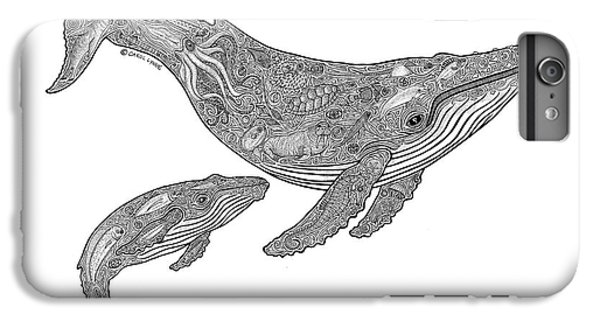 Humpback And Calf IPhone 6 Plus Case by Carol Lynne