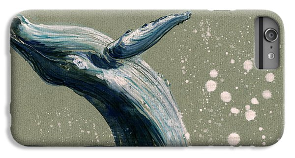 Humpback Whale Swimming IPhone 6 Plus Case by Juan  Bosco