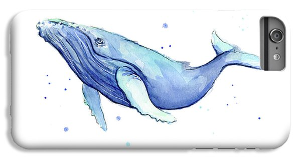 Humpback Whale Watercolor IPhone 6 Plus Case