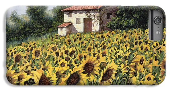 Sunflower iPhone 6 Plus Case - I Girasoli Nel Campo by Guido Borelli