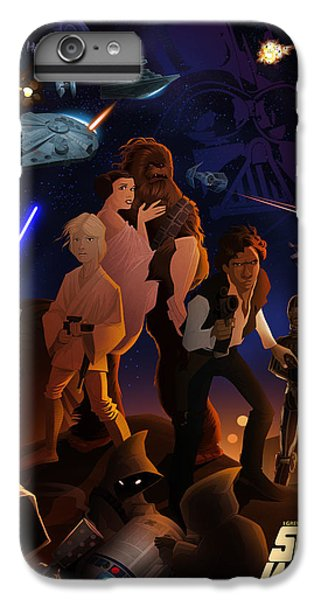 Han Solo iPhone 6 Plus Case - I Grew Up With Starwars by Nelson Dedos  Garcia