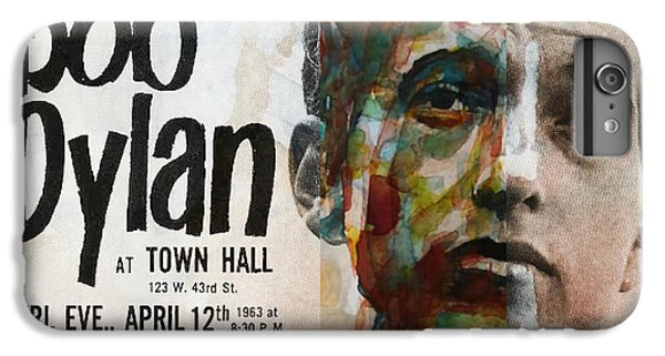 Bob Dylan iPhone 6 Plus Case - I Want You - Retro Poster  by Paul Lovering