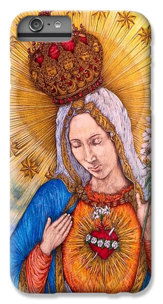 Immaculate Heart Of Virgin Mary IPhone 6 Plus Case by Kent Chua
