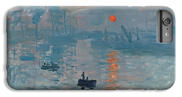 Boat iPhone 6 Plus Case - Impression Sunrise by Claude Monet