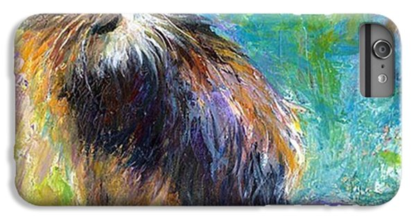 Impressionistic Tuxedo Cat Painting By IPhone 6 Plus Case