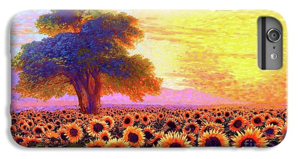 Sunflower iPhone 6 Plus Case - In Awe Of Sunflowers, Sunset Fields by Jane Small