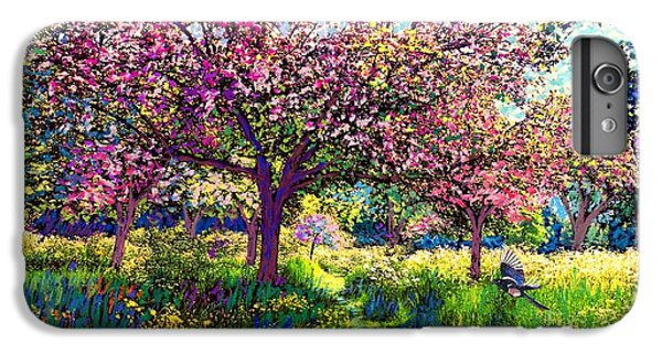 Magpies iPhone 6 Plus Case - In Love With Spring, Blossom Trees by Jane Small