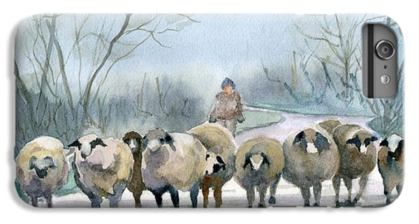 Sheep iPhone 6 Plus Case - In The Morning Mist by Marsha Elliott