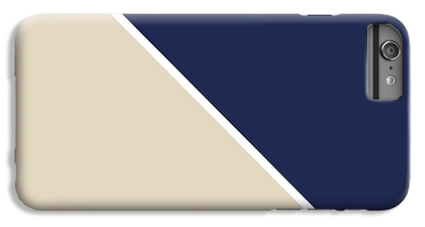 Beach iPhone 6 Plus Case - Indigo And Sand Geometric by Linda Woods
