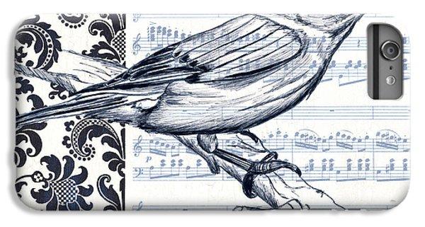 Bluebird iPhone 6 Plus Case - Indigo Vintage Songbird 1 by Debbie DeWitt