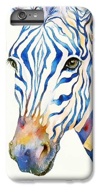 Intense Blue Zebra IPhone 6 Plus Case by Arti Chauhan