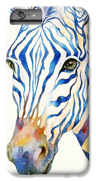 Intense Blue Zebra IPhone 6 Plus Case by Arti Chauhan