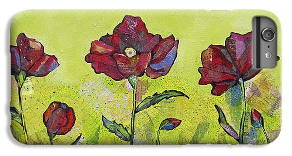 Lime iPhone 6 Plus Case - Intensity Of The Poppy I by Shadia Derbyshire