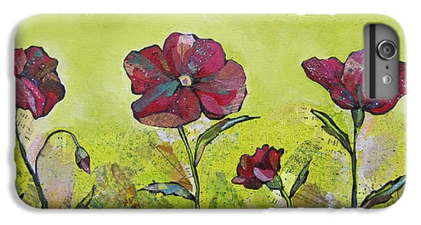 Lime iPhone 6 Plus Case - Intensity Of The Poppy II by Shadia Derbyshire