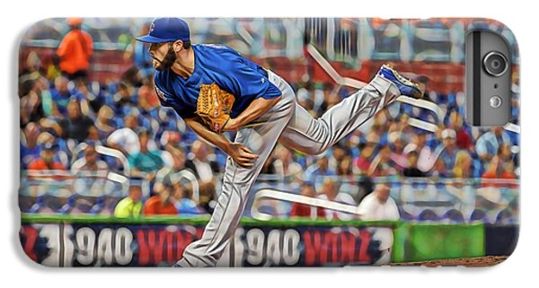 Jake Arrieta Chicago Cubs Pitcher IPhone 6 Plus Case by Marvin Blaine