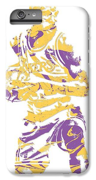 3511dfe4caa4f Lakers iPhone 6 Plus Case - James Worthy Los Angeles Lakers Pixel Art 5 by  Joe