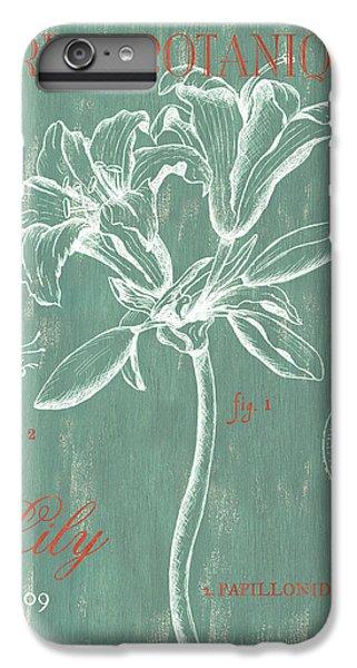 Lily iPhone 6 Plus Case - Jardin Botanique Aqua by Debbie DeWitt