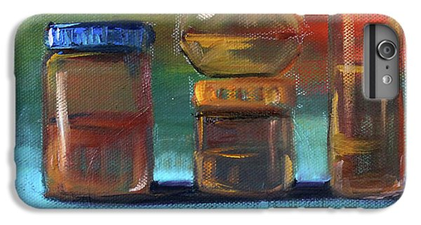 IPhone 6 Plus Case featuring the painting Jars Still Life Painting by Nancy Merkle