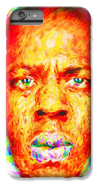 Jay-z Shawn Carter Digitally Painted IPhone 6 Plus Case by David Haskett